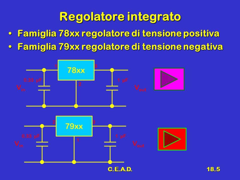 Regolatore integrato Famiglia 78xx regolatore di tensione positiva