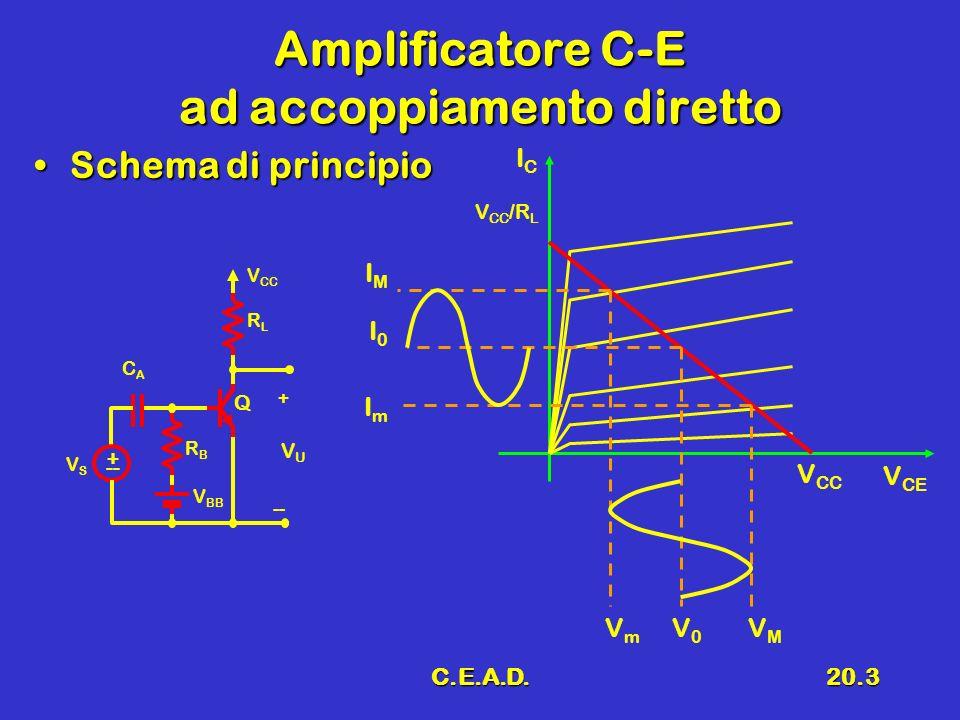 Amplificatore C-E ad accoppiamento diretto