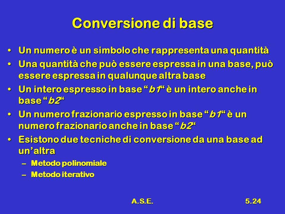 Conversione di base Un numero è un simbolo che rappresenta una quantità.