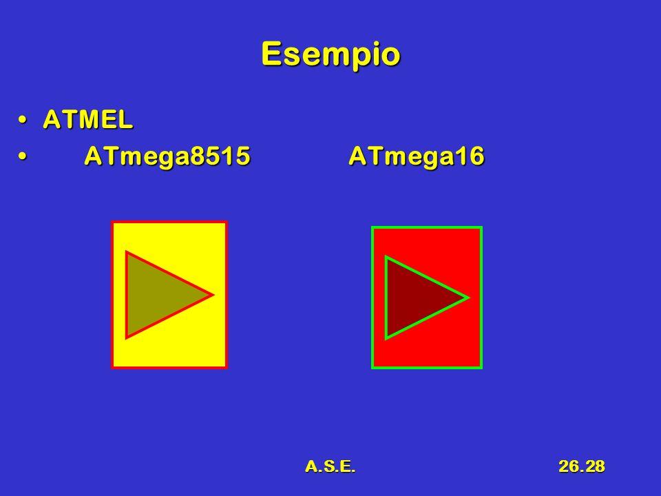 Esempio ATMEL ATmega8515 ATmega16 A.S.E.