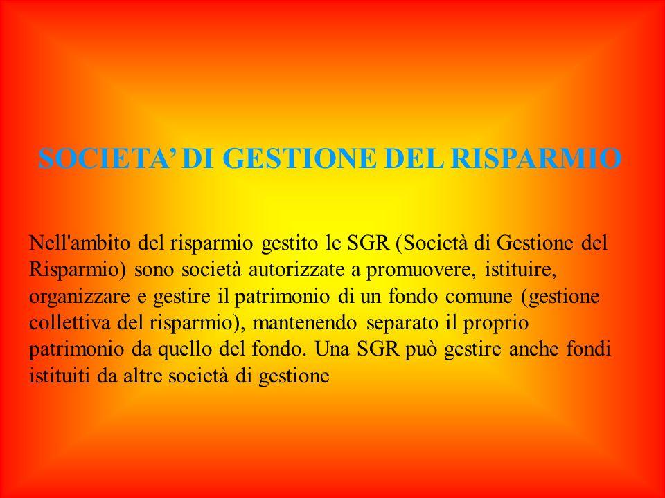 SOCIETA' DI GESTIONE DEL RISPARMIO