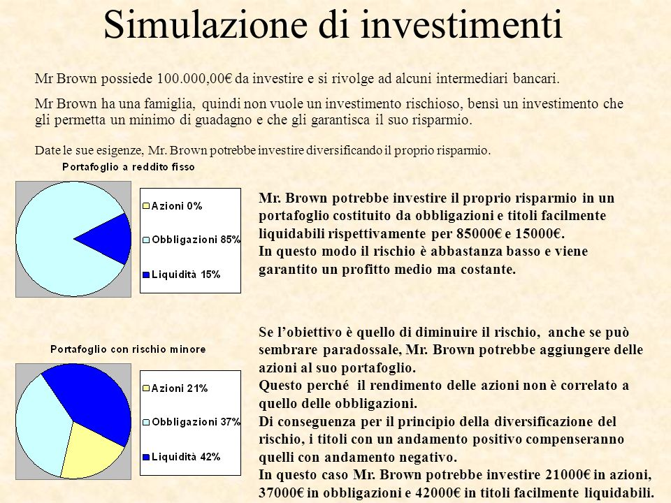 Simulazione di investimenti