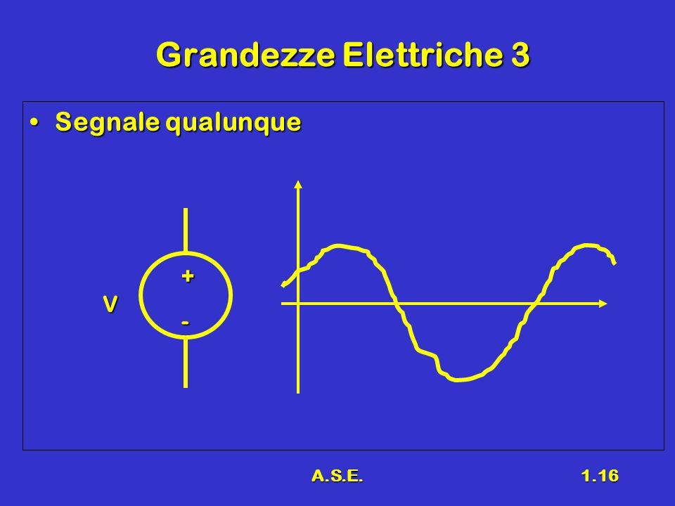 Grandezze Elettriche 3 Segnale qualunque + V - A.S.E.