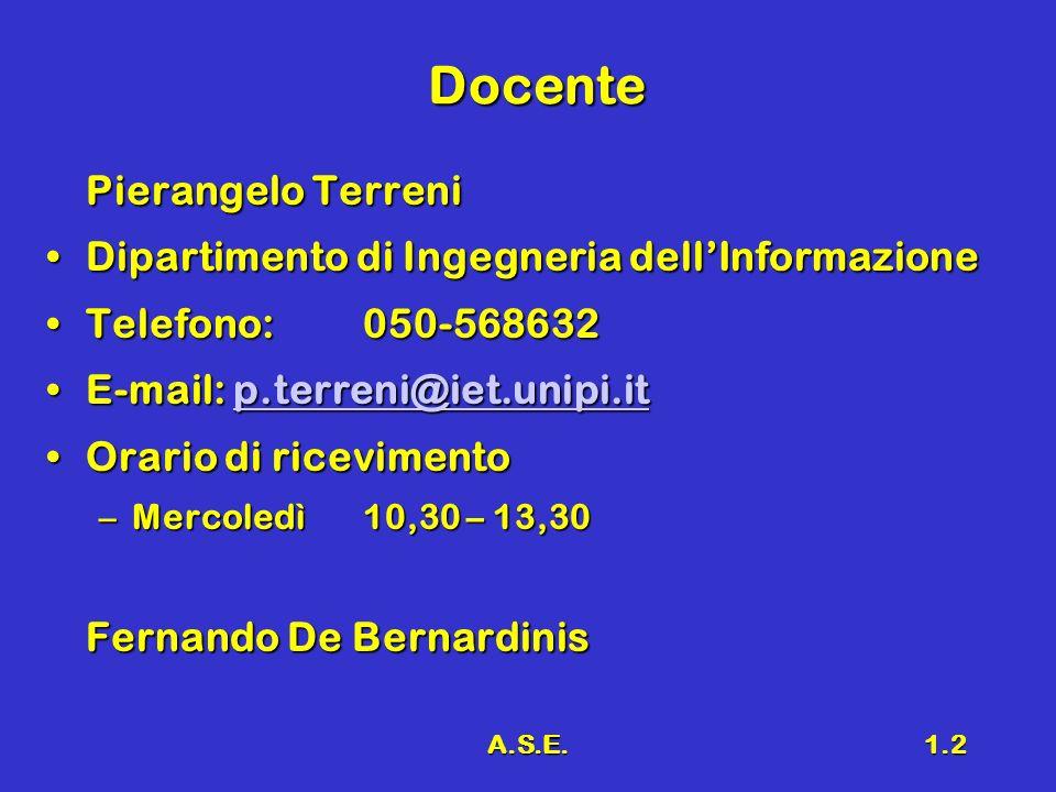 Docente Pierangelo Terreni