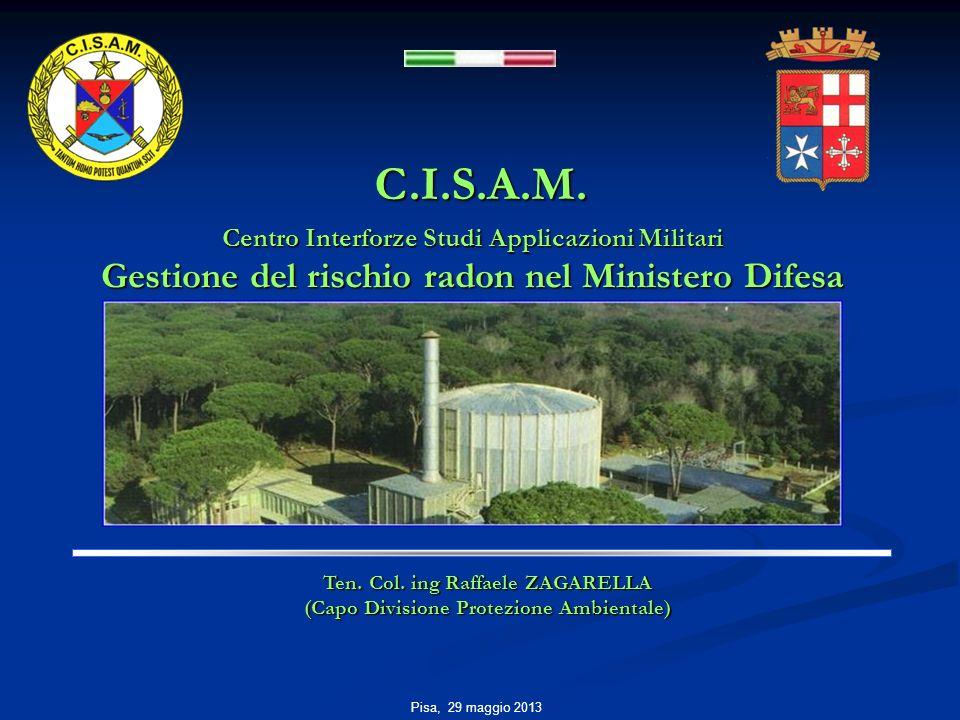 C.I.S.A.M. Gestione del rischio radon nel Ministero Difesa
