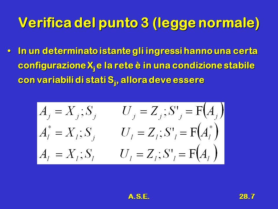 Verifica del punto 3 (legge normale)