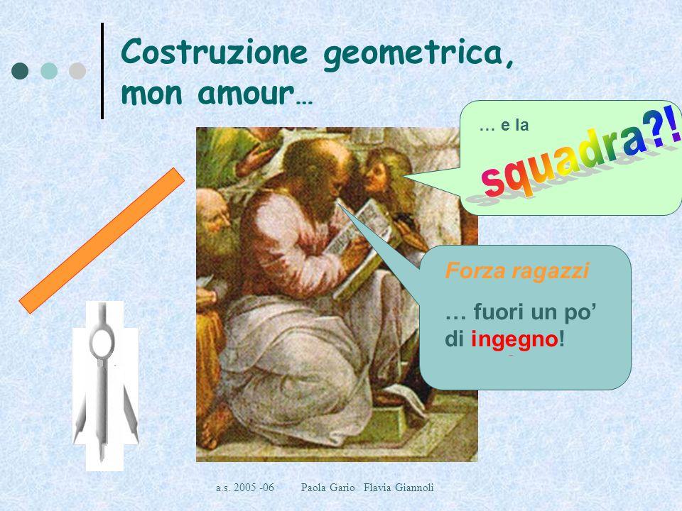Costruzione geometrica, mon amour…