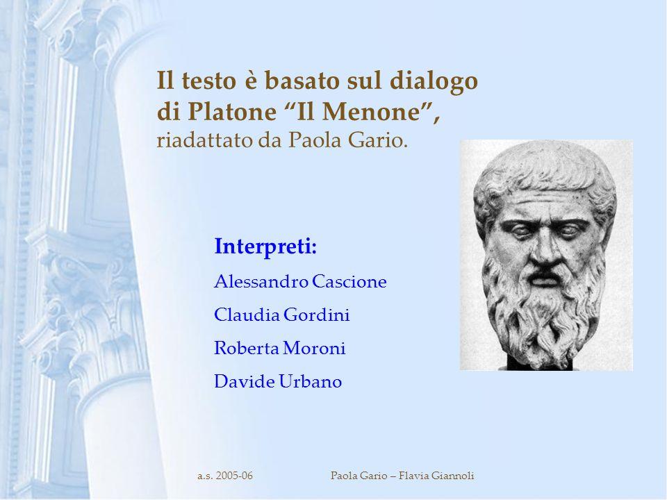 a.s. 2005-06 Paola Gario – Flavia Giannoli