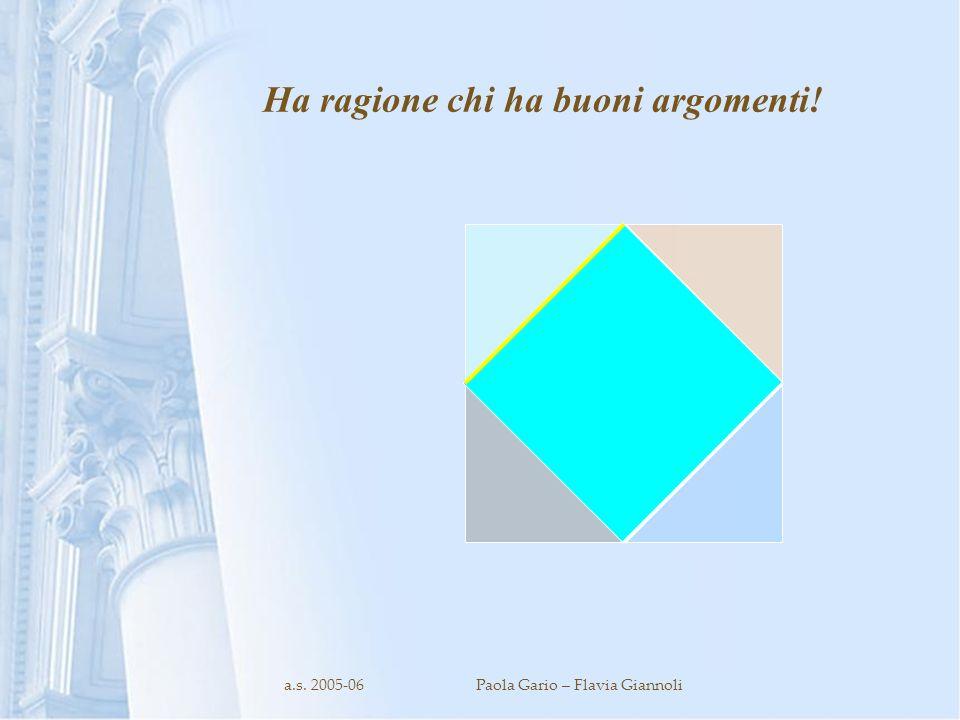 Ha ragione chi ha buoni argomenti!