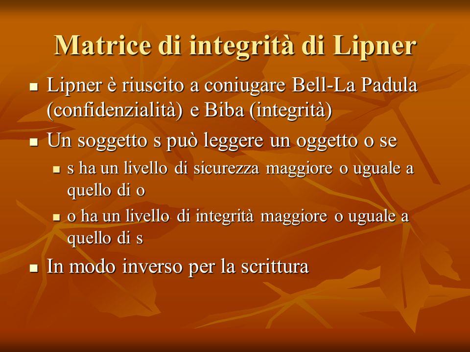 Matrice di integrità di Lipner