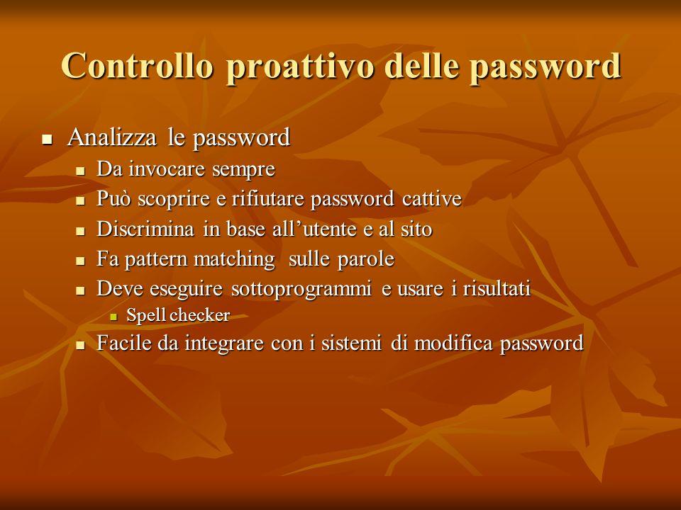 Controllo proattivo delle password