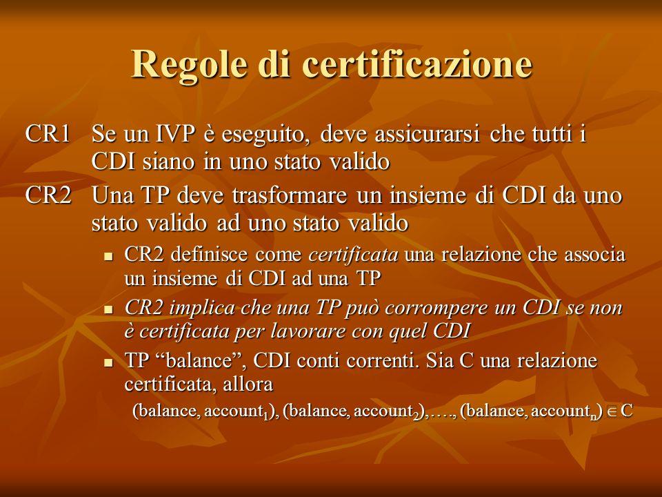 Regole di certificazione