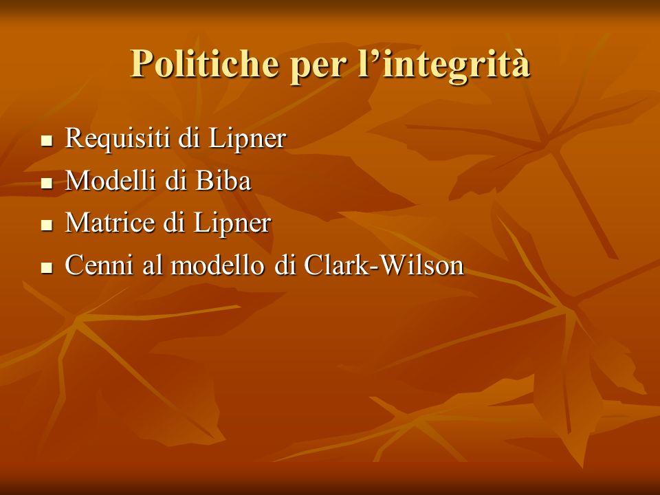 Politiche per l'integrità