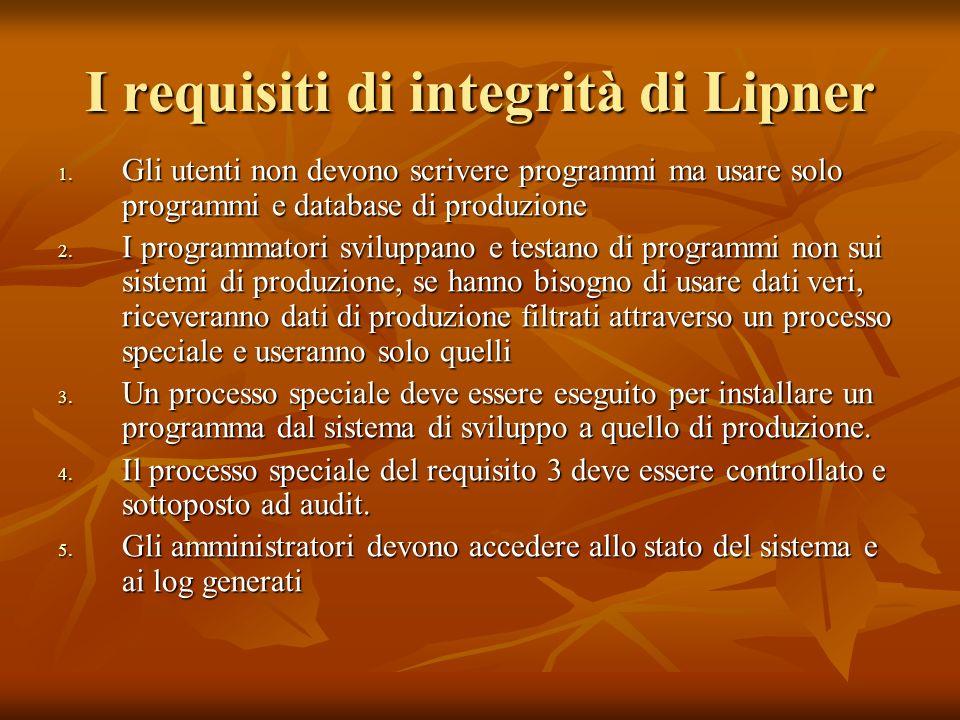 I requisiti di integrità di Lipner