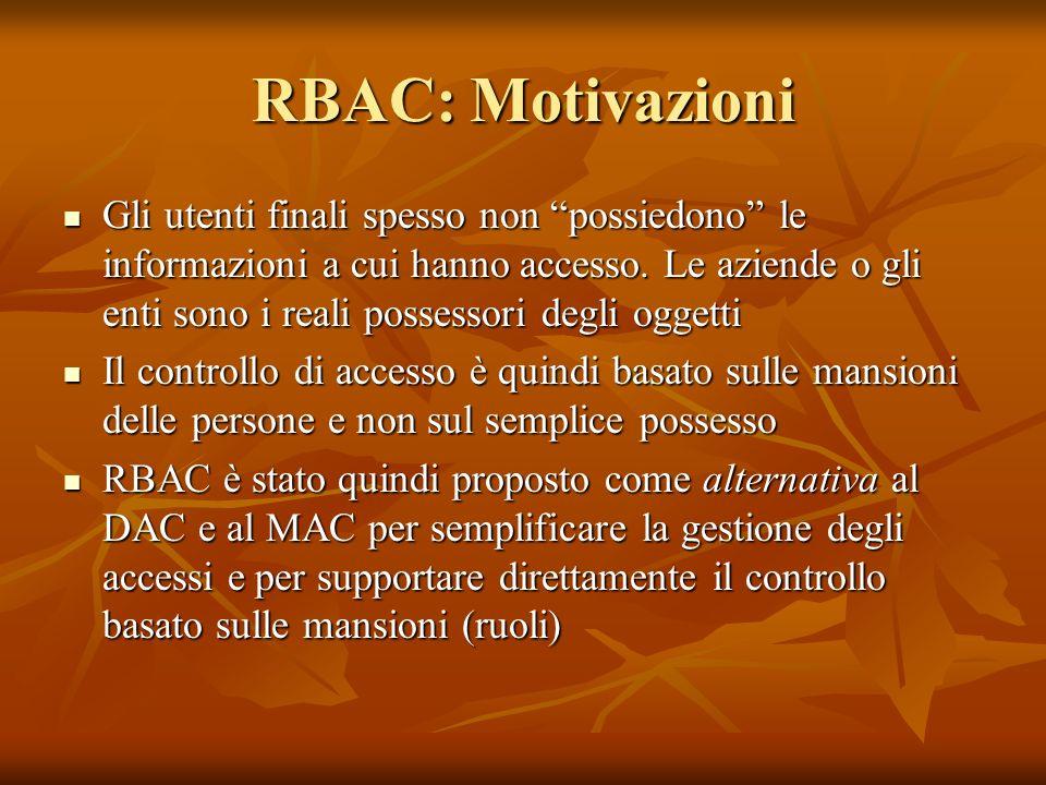 RBAC: Motivazioni