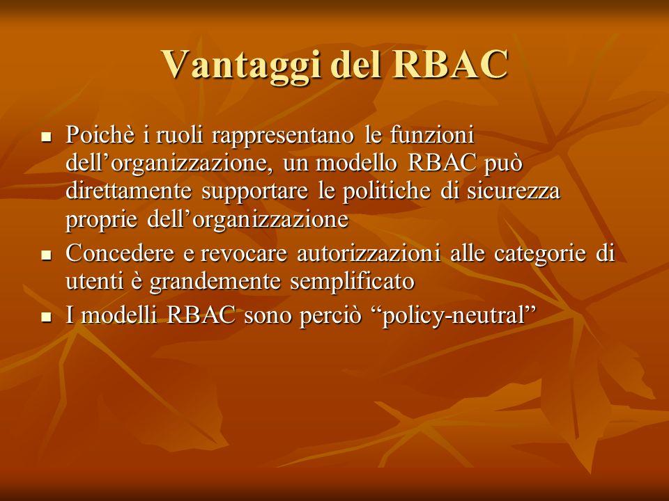 Vantaggi del RBAC