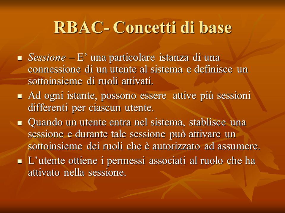 RBAC- Concetti di base