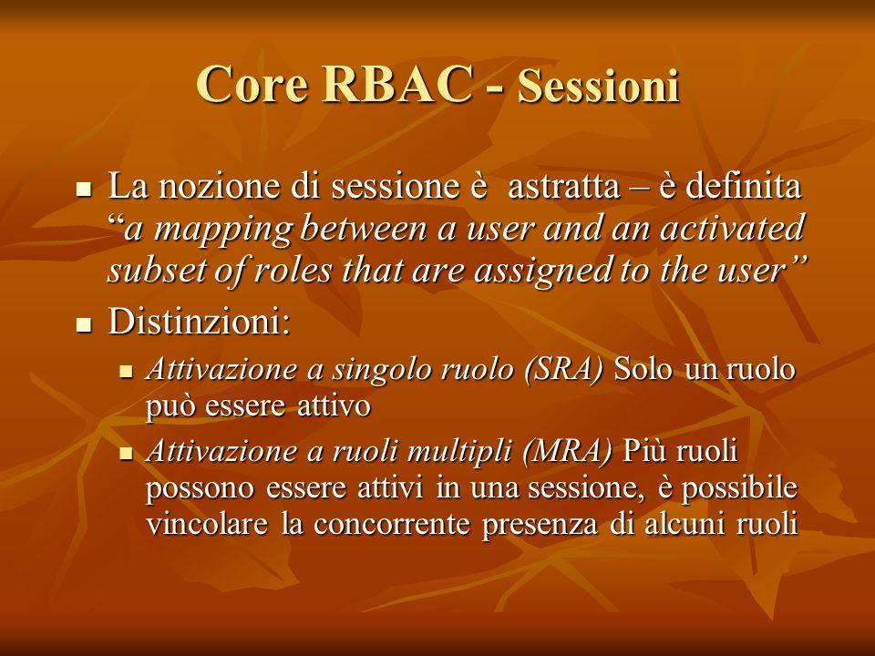 Core RBAC - Sessioni