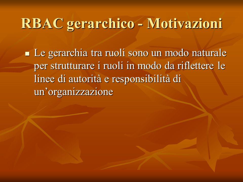 RBAC gerarchico - Motivazioni