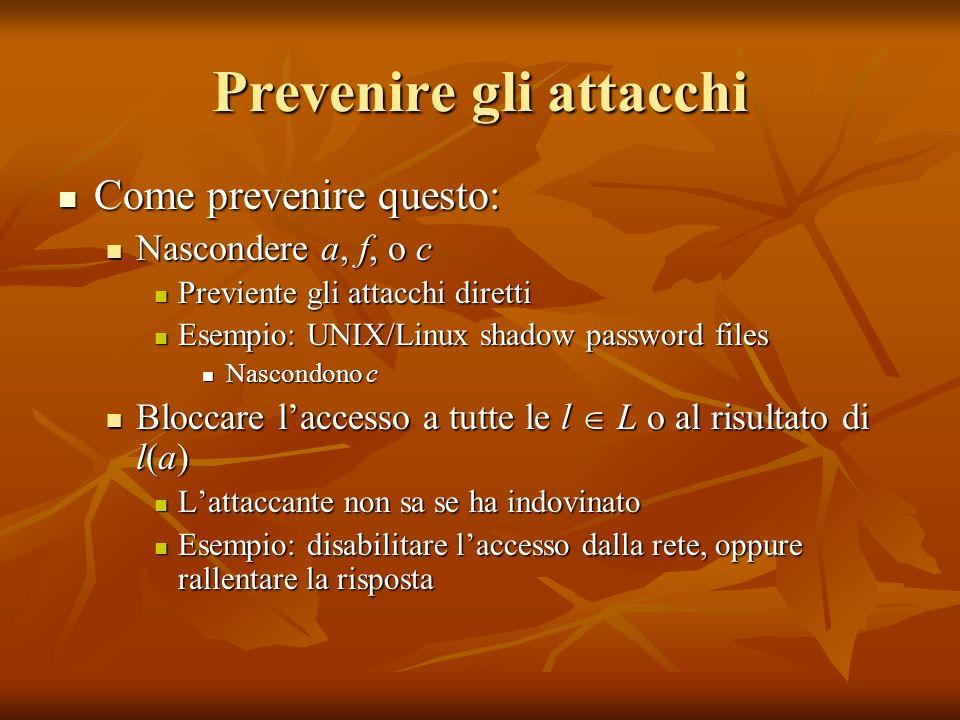 Prevenire gli attacchi
