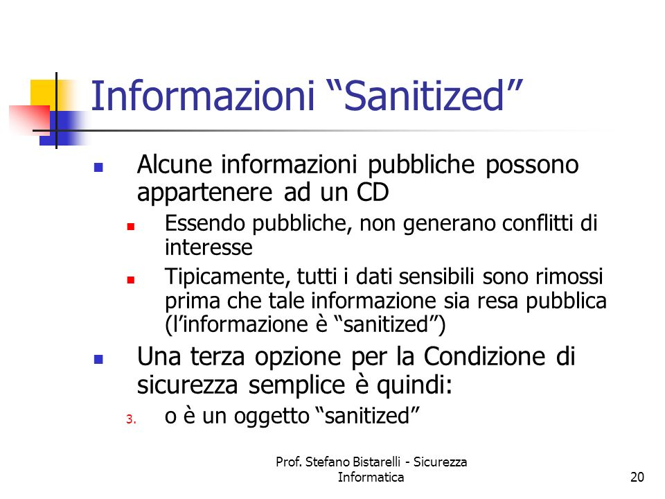 Informazioni Sanitized