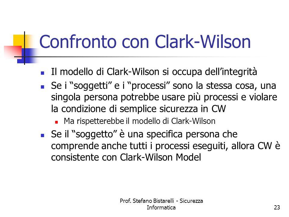 Confronto con Clark-Wilson