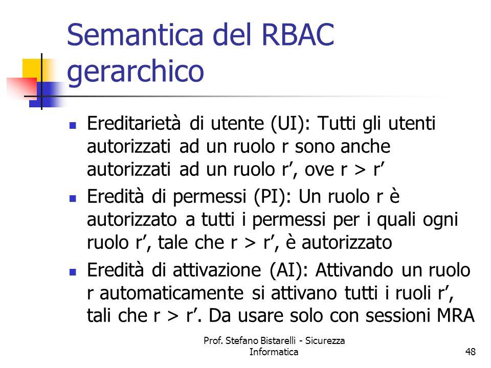 Semantica del RBAC gerarchico