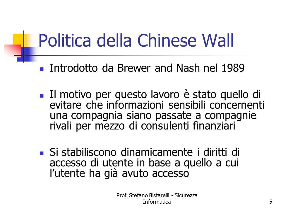 Politica della Chinese Wall