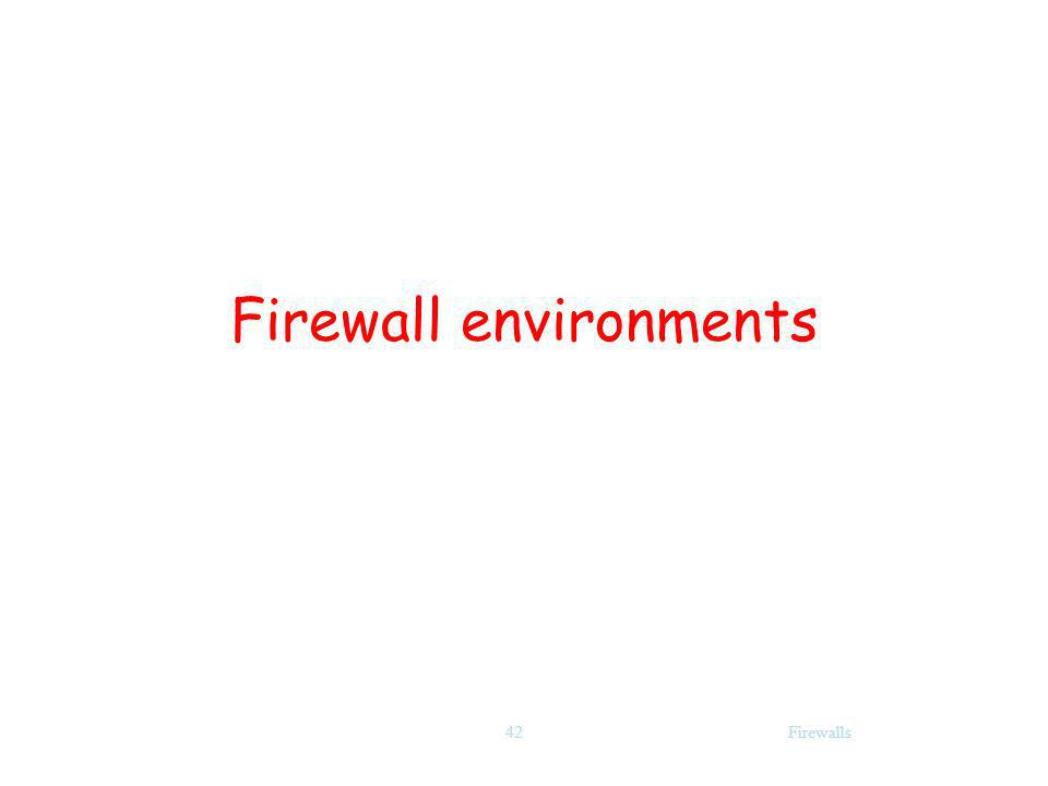 Firewall environments