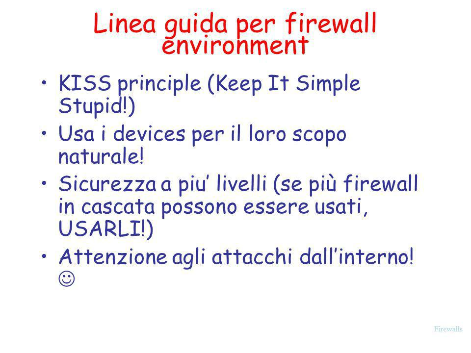 Linea guida per firewall environment