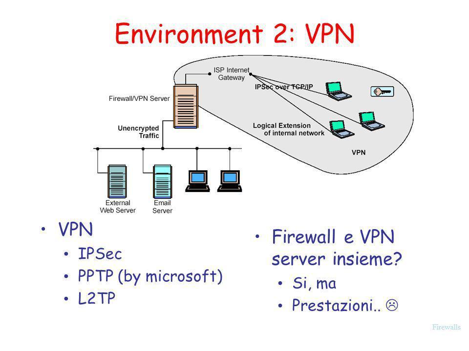 Environment 2: VPN VPN Firewall e VPN server insieme IPSec