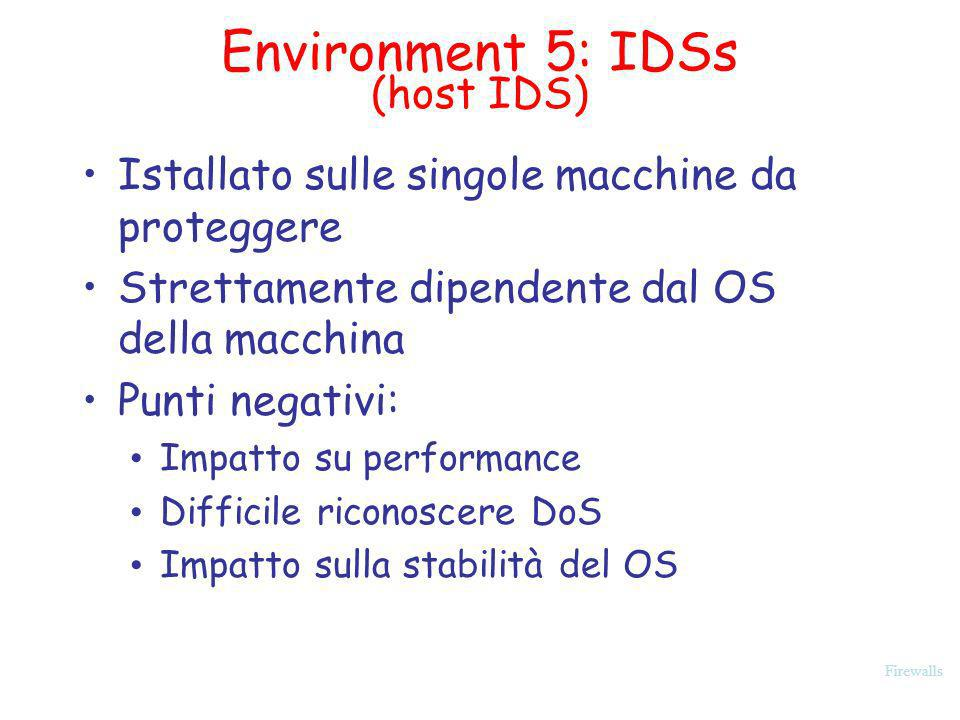 Environment 5: IDSs (host IDS)