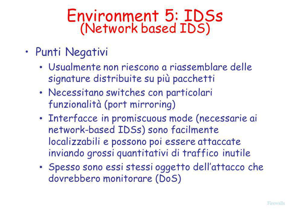 Environment 5: IDSs (Network based IDS)