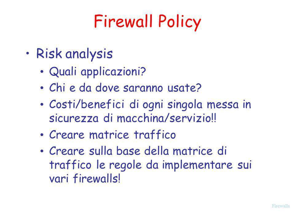 Firewall Policy Risk analysis Quali applicazioni