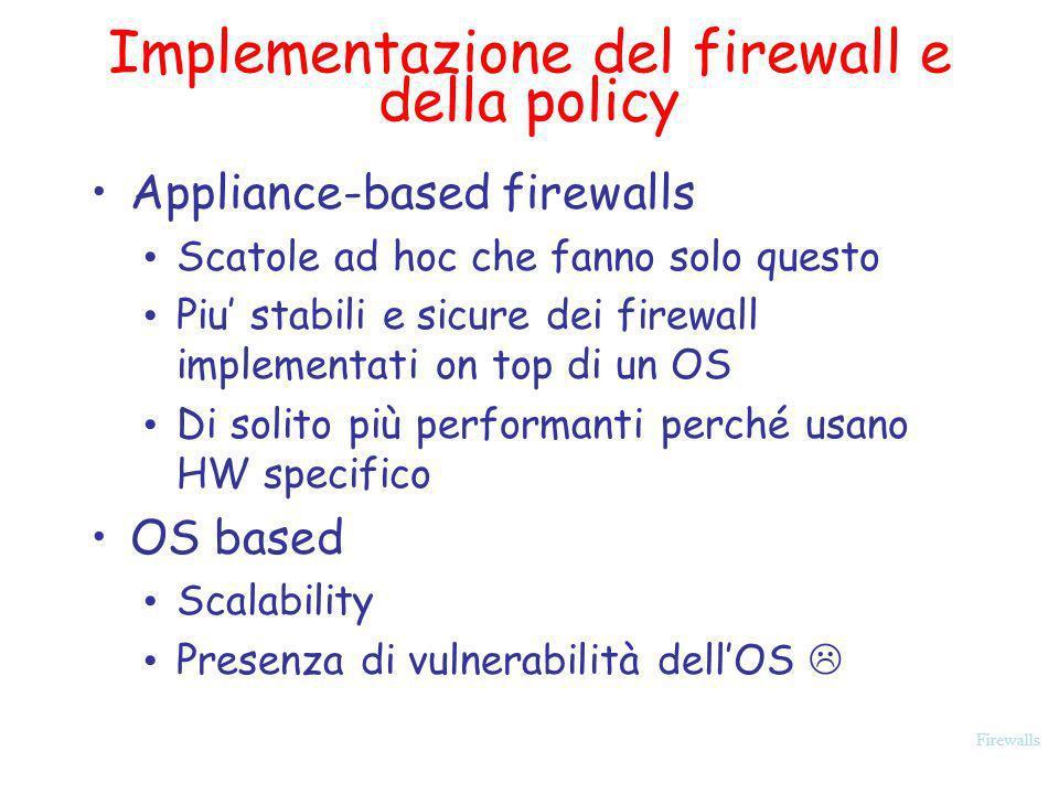Implementazione del firewall e della policy