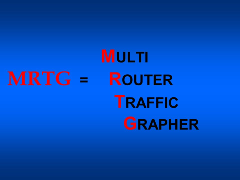 MULTI MRTG = ROUTER TRAFFIC GRAPHER