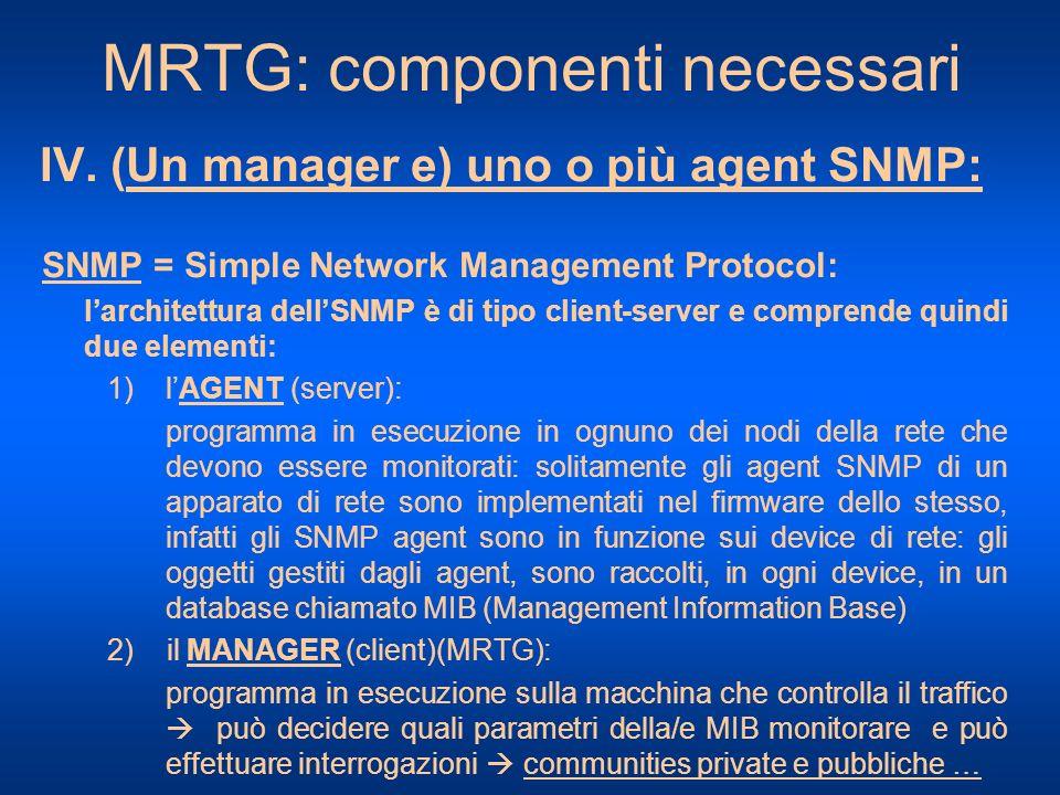 MRTG: componenti necessari