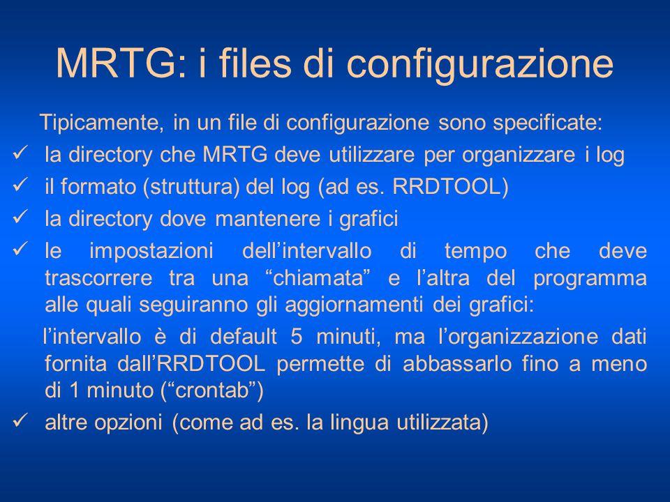 MRTG: i files di configurazione
