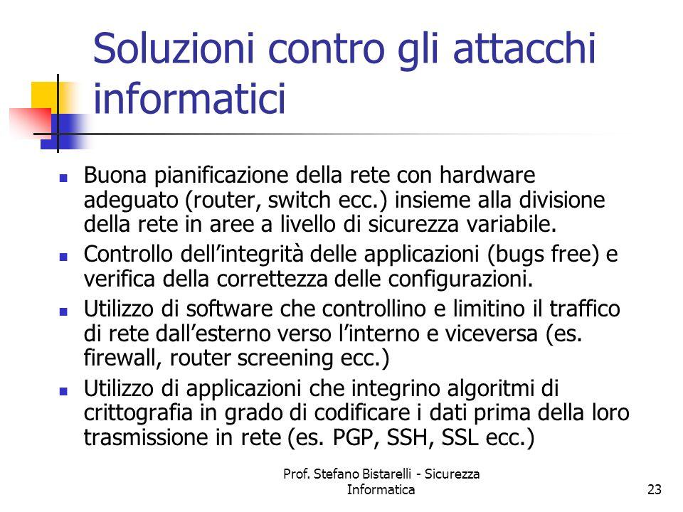 Soluzioni contro gli attacchi informatici