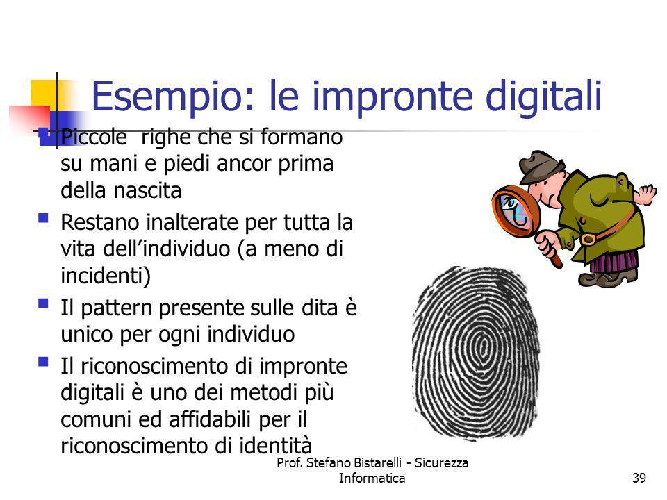 Esempio: le impronte digitali
