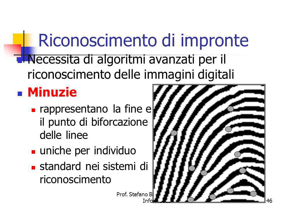 Riconoscimento di impronte