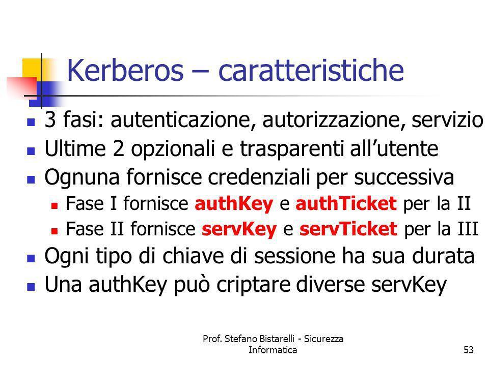 Kerberos – caratteristiche