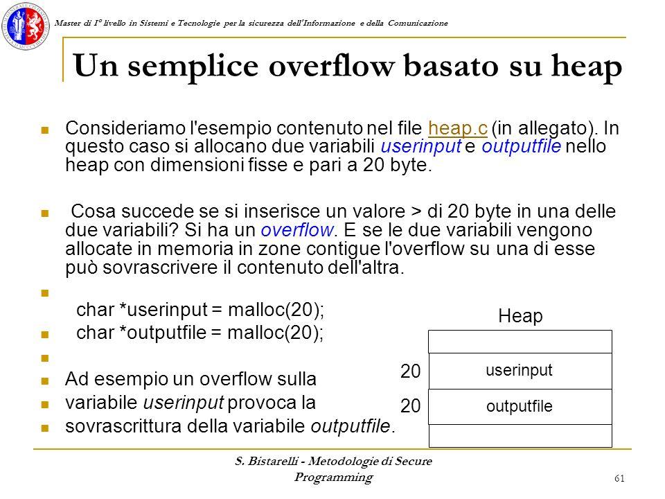 Un semplice overflow basato su heap