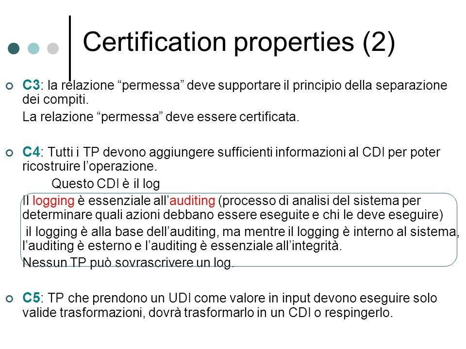 Certification properties (2)
