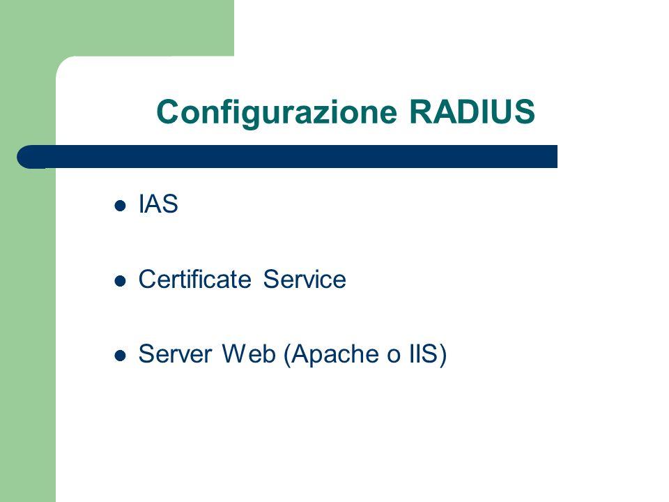 Configurazione RADIUS