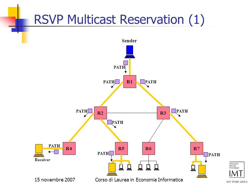 RSVP Multicast Reservation (1)