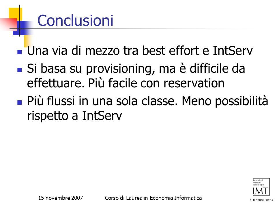 Corso di Laurea in Economia Informatica