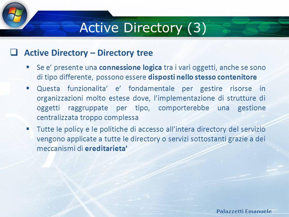 Active Directory (3) Active Directory – Directory tree