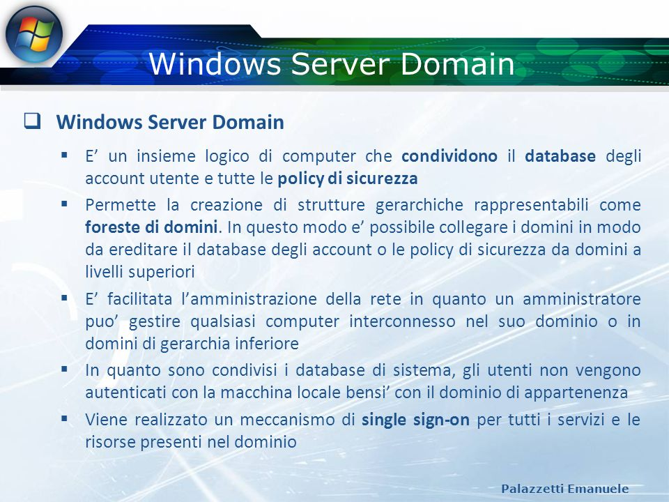 Windows Server Domain Windows Server Domain