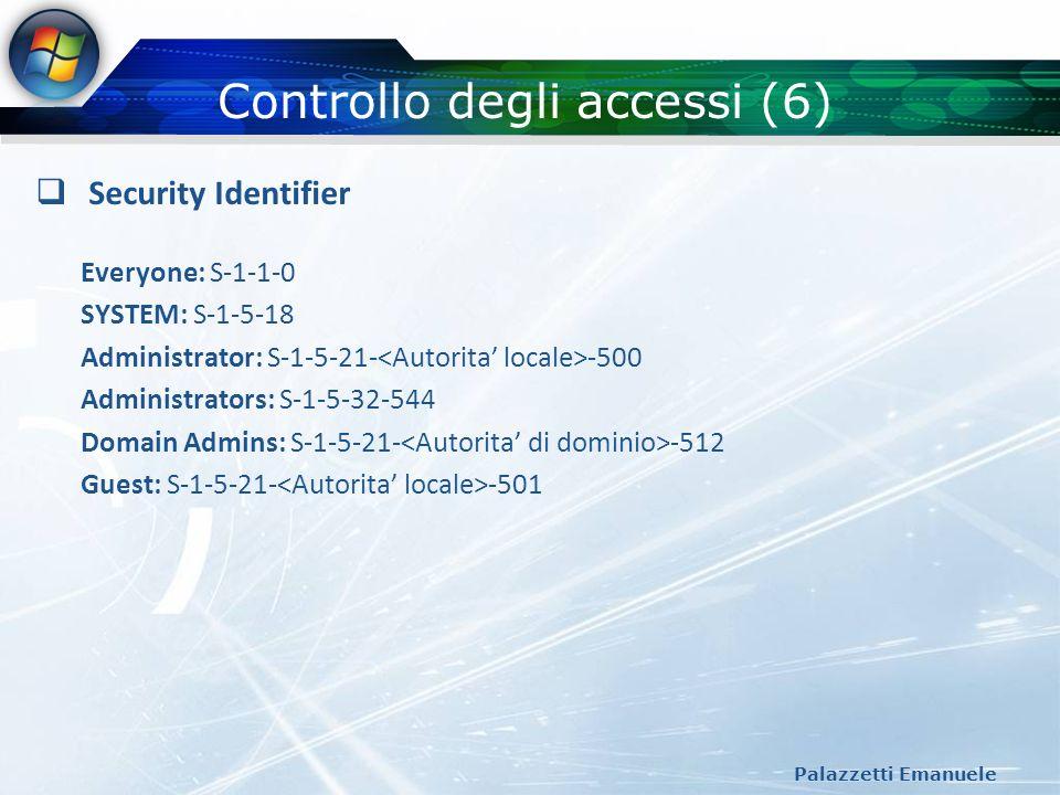 Controllo degli accessi (6)